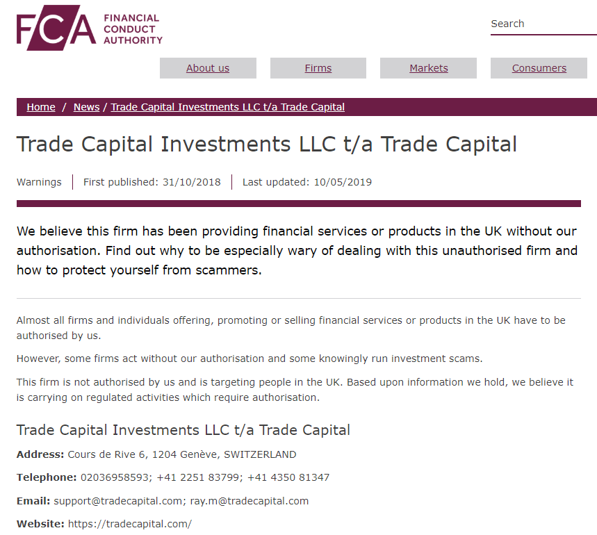 tradecapital review
